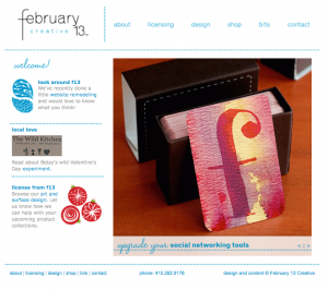 February 13th Creative Home Page